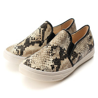 2015 New Spring&Autumn Women Flats Sweet Design Women Round Toe Slip On Loafers Fashion Femininos Ballet Casual Snakeskin Shoes