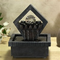 Stunning Reflection Tabletop Fountain with LED Light