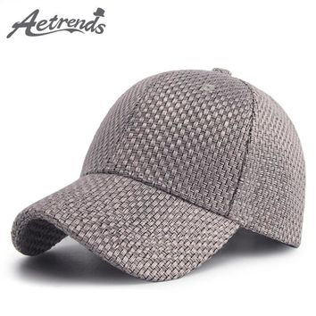 Trendy Winter Jacket [AETRENDS] 2018 New Spring Summer Cotton Woven Baseball Cap Men Women 6 Panel Snapback Outdoor Sport Hats Polo Caps Z-6282 AT_92_12