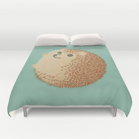 Hedgehog (HARINEZUMI) Duvet Cover by KUY's