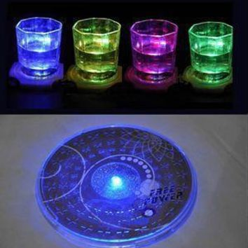 Drink Glass Bottle Cup Coaster Mat Bar Party LED Light