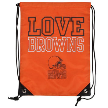 Cleveland Browns Women's Love Drawstring Backpack