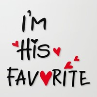 I'm his favorite Canvas Print by Cindys