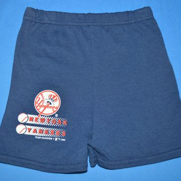 90s New York Yankees Baseball Toddler Shorts Size 2