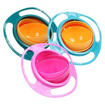 Baby Universal Gyro 360 Rotate Spill-Proof Bowl