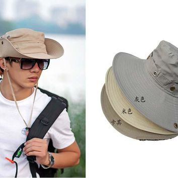 Men Bucket Hat Camouflage Military solid Hat Wide Cap Brim Military Boonie hat Camping Hat G-50