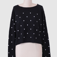 Heart On My Sleeve Cropped Sweater