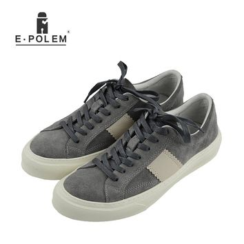 Men Genuine Leather Shoes Breathable Fashion Shoes Summer Spring Autumn Vintage Mens Casual Shoes Hot Sal Flat Board Shoes 2017