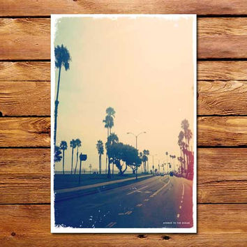 Avenue To The Ocean Poster