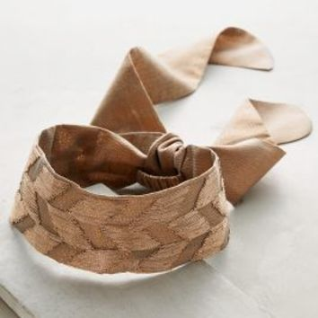 Chandra Tie-Back Turban Band by Anthropologie in Copper Size: One Size Hair