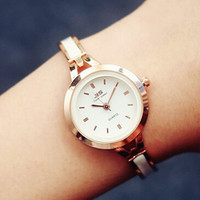 Womens Classic Ceramics Gold Watch Gift - 543