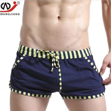 WJ High-end hot selling men's casual shorts Tracksuit Male Home Furnishing loose cotton Sleep Bottoms & Arrow pants 6 Colors