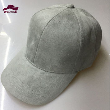 Man woman Baseball Hats New Brand Caps Casual Sports hat Suede Snapback Hat Gorra Hombre solid cappello hip hop baseball cap