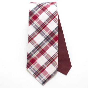West Plaid & Bordeaux Classic Necktie
