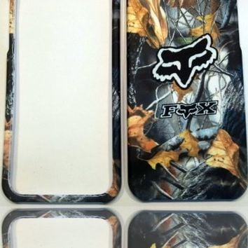 Fox Racing Grey Camo iPhone 5 (All Carriers) Rigid Faceplate Cell Protector Case Housing Cover Snap On NEW !!