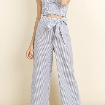 June Seersucker Culottes