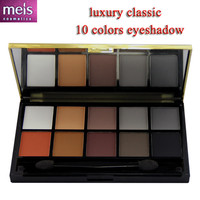 quality eyeshadow palette maquiagem 10 colors matte metail makeup box naked shadows with eye pencil 1002D