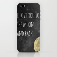 Love You to the Moon iPhone & iPod Skin by LJehle