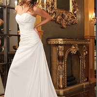 Buy discount Glamorous Taffeta  A-Line Strapless Sweetheart  Neckline Wedding Dress at dressilyme.com
