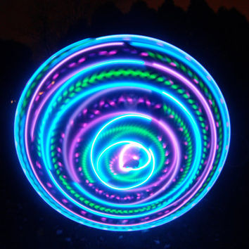 FREE SHIPPING - Strobing / Color Changing / Solid Color LED Hula Hoop - Vibrant Aurora - PolyPro