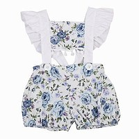 Baby Clothing Newborn Baby Girls Tassel Floral Romper Jumpsuit Outfits Sun-suit Clothes 0-24M
