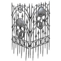 Halloween Prop: Fence Silver Skull