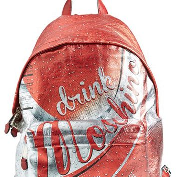Women's Moschino 'Drink Moschino' Laminated Leather Backpack