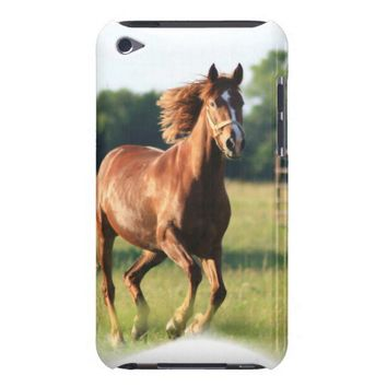 Chestnut Galloping Horse iTouch Case iPod Case-Mate Cases from Zazzle.com