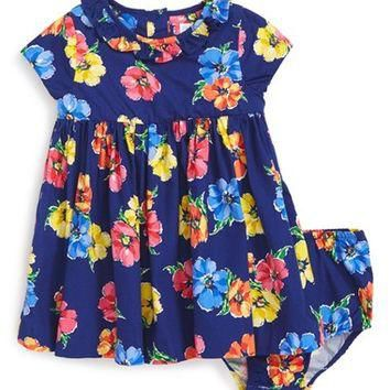 Ralph Lauren Floral Dress (Baby Girls) | Nordstrom