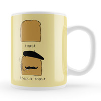 French Toast White Ceramic Mug by Chargrilled