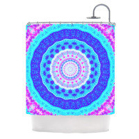 "Iris Lehnhardt ""Summer Colors"" Pink Blue Shower Curtain"