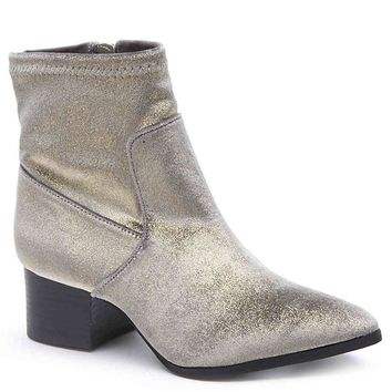 Matisse DOTTY Silver Velvet Bootie Ankle Boot