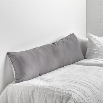 Light Grey/Dark Grey Soft Wash Reversible Body Pillow Cover