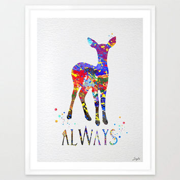 Harry Potter Always Watercolor illustration Art Print,Harry Potter Poster,Friendship Quote,Nursery/Kids Art Print,Wedding,Birthday Gift,#149
