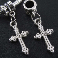 Cross Dangle European Bracelet Bead