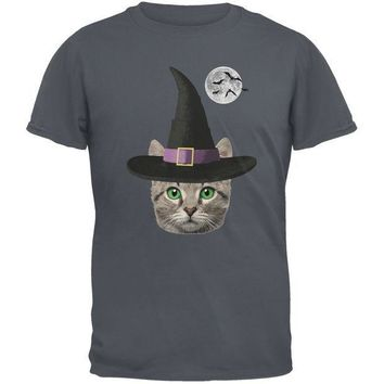 CREYCY8 Halloween Funny Cat Witch Charcoal Youth T-Shirt
