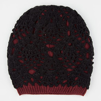 Lurex Overlay Beanie Black One Size For Women 26393710001