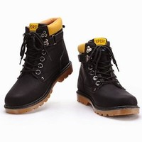 NEW Mens Fashion Lace Up Ankle Martin Boots Winter Snow Leather Shoes Outdoors