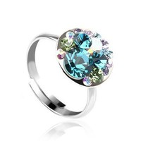 Bubbling Pop Ring with Swarovski Elements
