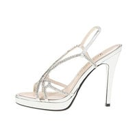 E! Live From The Red Carpet Womens Daphne Metallic Rhinestone Platform Heels