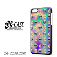 Psychedelic Alien Emoji Pattern DEAL-8959 Apple Phonecase Cover For Iphone 5C