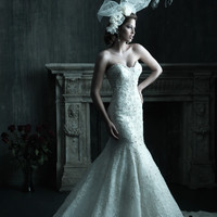 Allure Couture C200 Sample Sale Wedding Dress Ivory Size 8