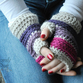 Johnny Fingerless Gloves Crochet Pattern pdf