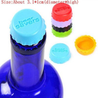 10Pcs Silicone Bottle Cap Cover Lid Stopper Cork Wine Glass Beer Saver Capsule Fresh = 1958436740