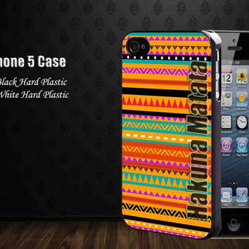 aztec native pattern tribal art design hakuna matata,Iphone 5 case,accesories case,cell phone