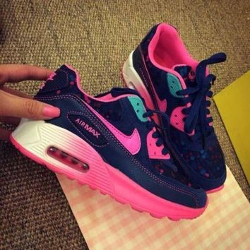 PEAPNW6 Sale Nike Air Max 90 Pink Purple Gradient Gradient Rose Running Shoes Sport Shoes
