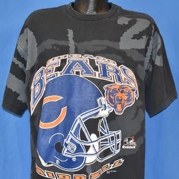 90s Chicago Bears All Over Print Riddell t-shirt Extra Large