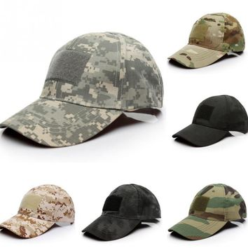 Outdoor Climbing Caps Unisex Baseball Caps Camouflage Pattern Hats America US Flag Types Embroidered Sticker Hook Patch