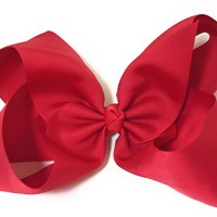8 inch Girls Gross Grain Giant Cheer and Dance Hair Bow