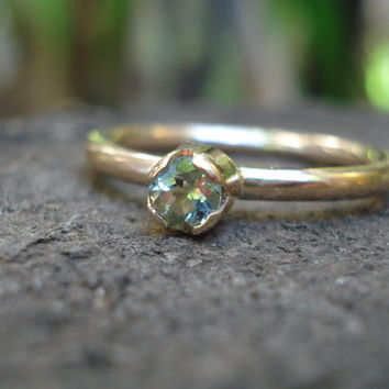 Sapphire ring gold, sapphire stacking ring, sapphire stacker, green sapphire, rose gold ring sapphire, sapphire rose gold, ExquisiteGem